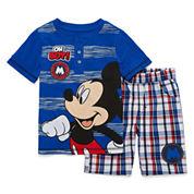Disney By Okie Dokie Boys 2-pc. Short Sleeve Short Set