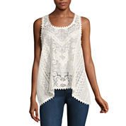 Eyeshadow Lace Tank Top-Juniors