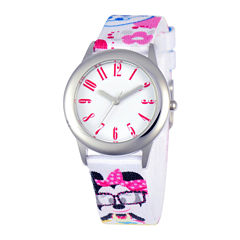 Disney Minnie Mouse Tween White Strap Watch