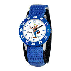 Disney Time Teacher Goofy Blue Fast Strap Watch