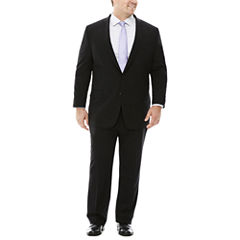 Claiborne® Stretch Black Grid Suit Separates - Big & Tall