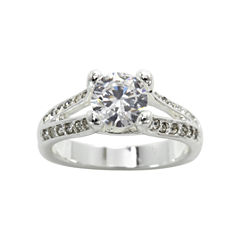 city x city® Silver-Plated Cubic Zirconia Cocktail Ring