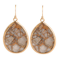Art Smith by BARSE White Calcite Teardrop Earrings