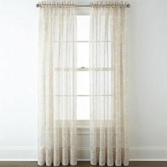 Liz Claiborne® Lisette Paisley Rod-Pocket Sheer Panel