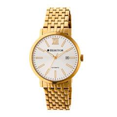 Heritor Bristol Mens Gold Tone Bracelet Watch-Herhr5303