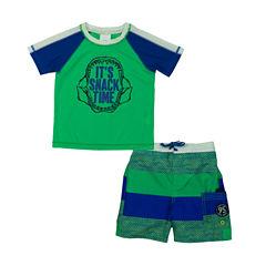 Oshkosh Stripe Rash Guard Set - Toddler
