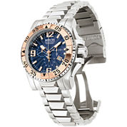 Invicta® Reserve Excursion Mens Rose Gold-Plated Chronograph Watch