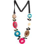 Designs by Adina Multicolor Disc & Shell Necklace
