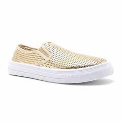 Qupid Reba Perforated Womens Sneakers