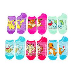 6pk Pokemon No Show Socks