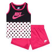 Nike Baby Girls Tank Top Short Set