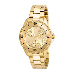 Invicta® Angel Womens 18K Yellow Gold Ion Plated Stainless Steel Bracelet Watch