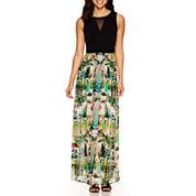 nicole by Nicole Miller® Sleeveless Print Maxi Dress