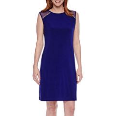 Scarlett Sheer Cap Sleeves Sheath Dress