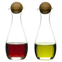 Sagaform® Set of 2 Oil & Vinegar Bottles with Oak Stoppers