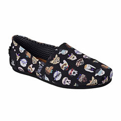 Skechers Bobs Pup Smarts Womens Slip-On Shoes