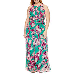 R & K Originals Sleeveless Maxi Dress-Plus