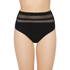 Xersion High Waist Hipster with Mesh Swimsuit Bottom