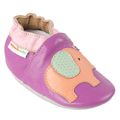 Momo Baby Lovey Elephant Girls Crib Shoes-Baby