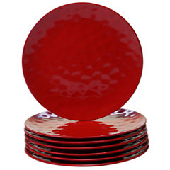 Certified International Red 6-pc. Dinner Plate