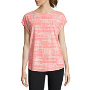Xersion Studio Short Sleeve Split Back Tee