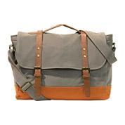 Two-Tone Canvas Messenger Bag