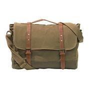 Two-Color Canvas Messenger Bag