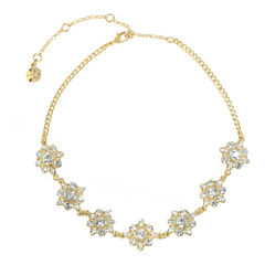 Monet Jewelry Womens White Choker Necklace