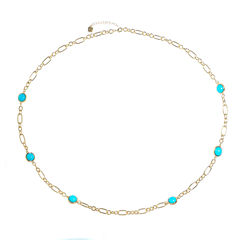 Monet Jewelry Womens Blue Strand Necklace