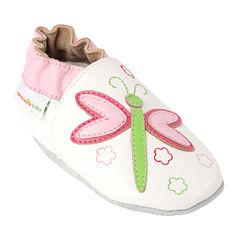 Momo Baby Dragonfly Girls Crib Shoes-Baby