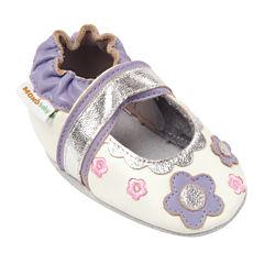 Momo Baby Flower Lace Mary Jane Girls Crib Shoes-Baby