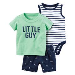 Carter's 3-pc. Short Set Baby Boys