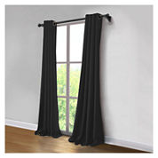 JCPenney Home Made-To-Length Linen Grommet-Top Blackout Lined Curtain Panel