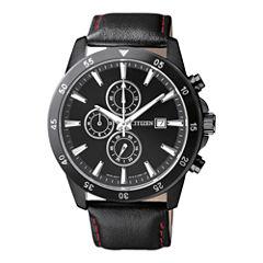 Citizen® Mens Black Stainless Steel Chronograph Watch AN3575-03E