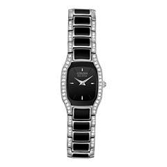 Citizen® Eco-Drive® Womens Black Resin Watch EW9780-57E
