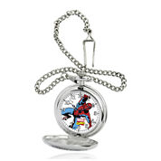 Marvel® Spider-Man® Mens Silver-Tone Pocket Watch