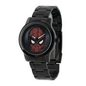 Marvel® Spider-Man® Mens Black Stainless Steel Watch
