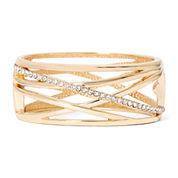 Worthington® Crystal Cutout Gold-Tone Cuff Bracelet