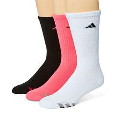 adidas® 3-pk. Athletic Cushioned Crew Socks