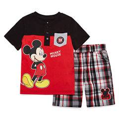 Disney by Okie Dokie 2-pc. Cars Short Set Boys