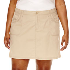 St. John's Bay® Twill Skort-Plus (6