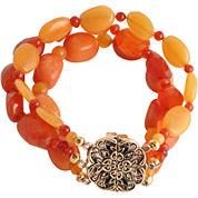 Art Smith by BARSE Orange Gemstone Stretch Bracelet