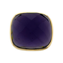 ATHRA Purple Glass Stone Ring