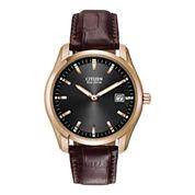Citizen® Eco-Drive® Mens Brown Leather Watch AU1043-00E