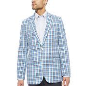 Stafford® Blue Plaid Sport Coat - Classic Fit