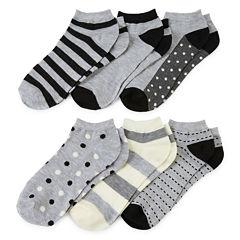 Mixit™ Womens 6-pk. Low-Cut Socks