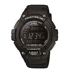 Casio® Solo Runner Mens Black Multifunction Watch WS220-1BV