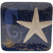 Certified International Coastal Moonlight Melamine Set of 6 Dinner Plates