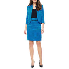 Black Label by Evan-Picone 3/4 Sleeve Open Jacket or Suit Skirt