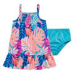 Okie Dokie Sleeveless A-Line Dress - Baby Girls